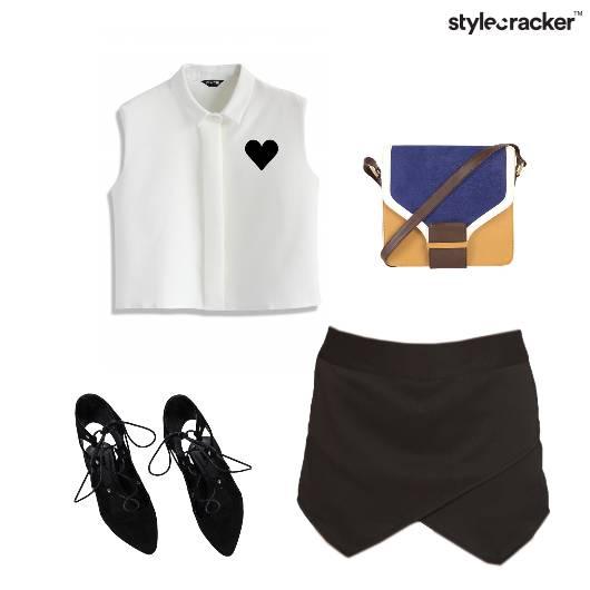 Shirt Skort LaceUps SlingBag - StyleCracker