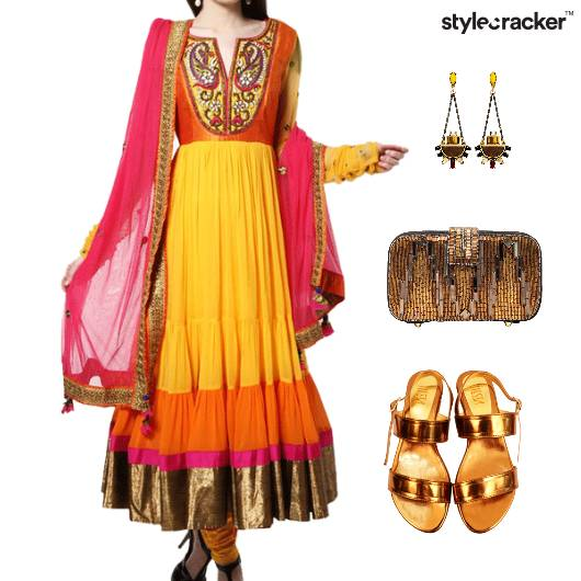Indian Festive Ethnic Reception Wedding - StyleCracker