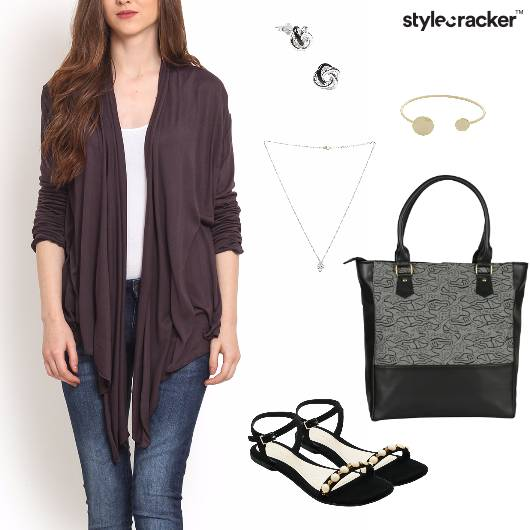 Shrug Layer Purple Casual Basics - StyleCracker