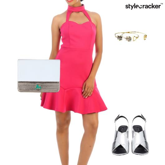 Fit&Flare Dress Stilettos Clutch Lunch  - StyleCracker