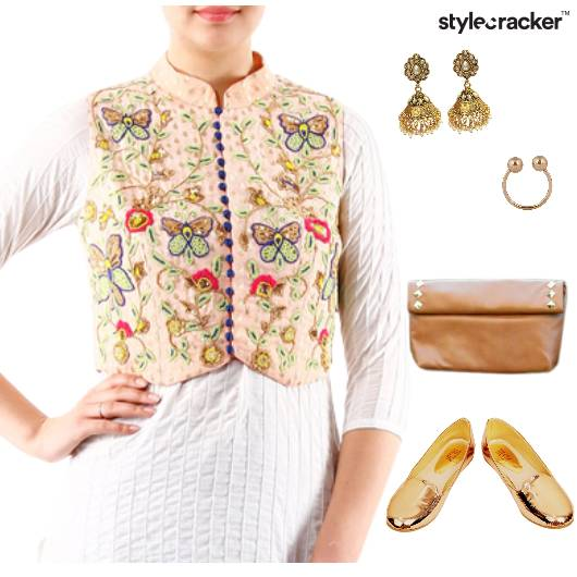 Kurta Jacket Jeans Indian Ethnic - StyleCracker