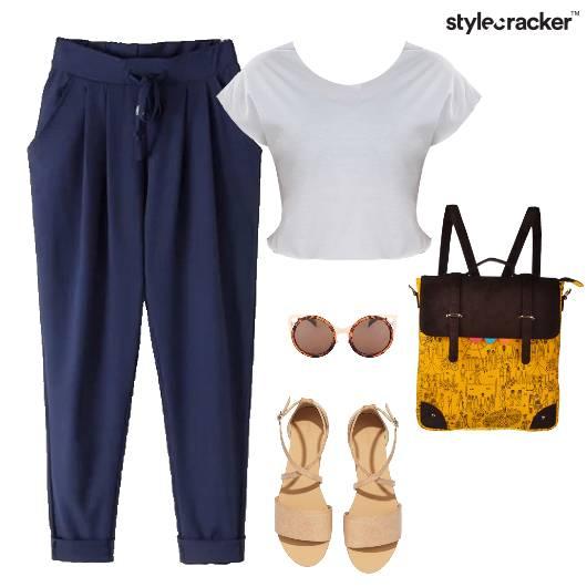 Drawstring Pants Flats Backpack Casuals Summer - StyleCracker