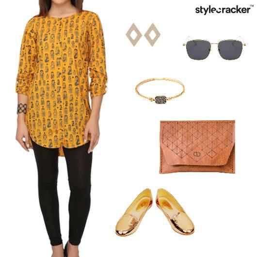 Print Kurta Jeans Indian Ethnic Casual  - StyleCracker