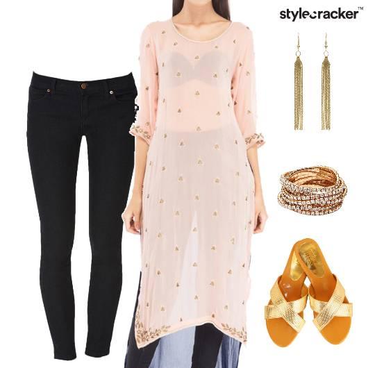 Kurta Jeans Indian Ethnic Casual  - StyleCracker