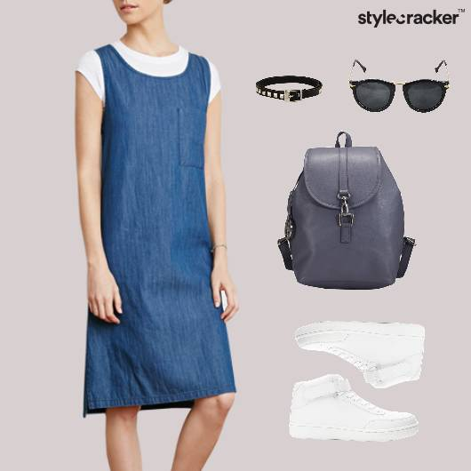 Denim Sneakers Backpack Lunch Casual - StyleCracker