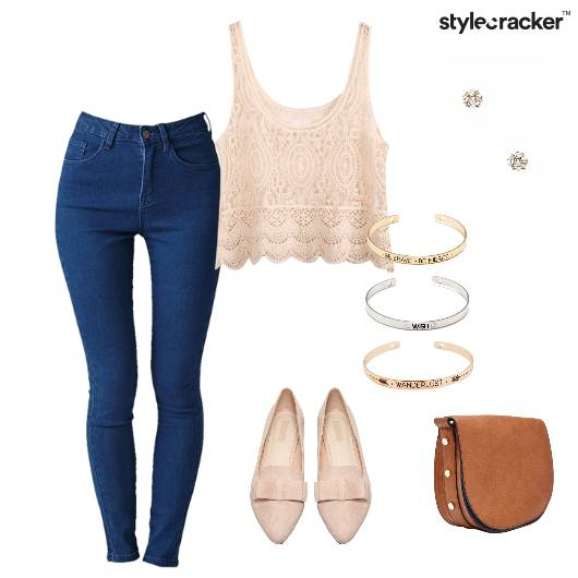 Top crochet Denims Slingbag Casual - StyleCracker