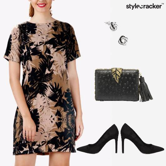 Print Shift Dress Night Party - StyleCracker