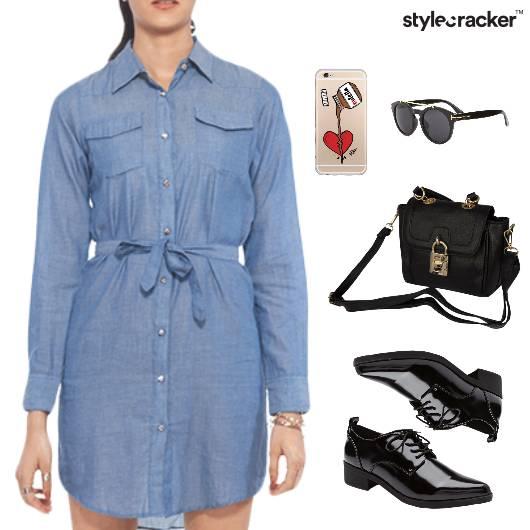 Denim Dress SlingBag MobileCover Lunch - StyleCracker