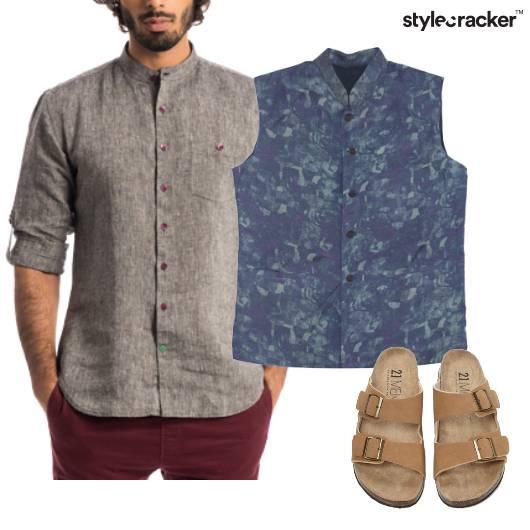 Linen Shirt Coat Indian Ethnic - StyleCracker
