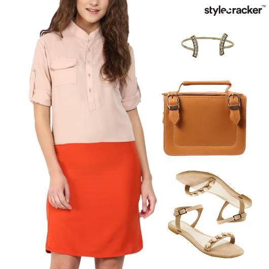 Shirt Dress Flats Lunch Shopping  - StyleCracker