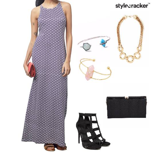 Maxidress Heels Clutch Party Cuff  - StyleCracker