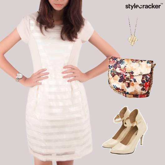 Floral Print Sling Bag Nude Footwear  - StyleCracker