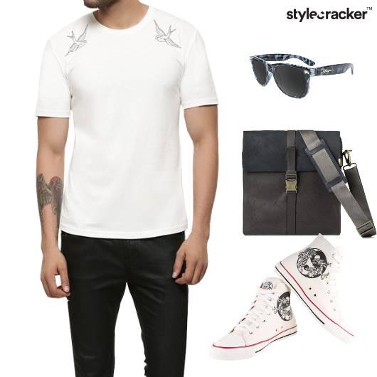 Tshirt leatherjacket Converse Bag Casual - StyleCracker