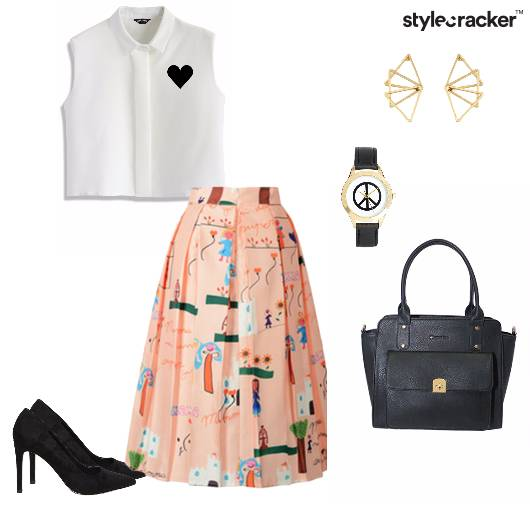 Croptop Skirt Midi pumps satchel brunch - StyleCracker