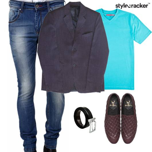 TShirt Layer Jacket Casuals SlipOn - StyleCracker