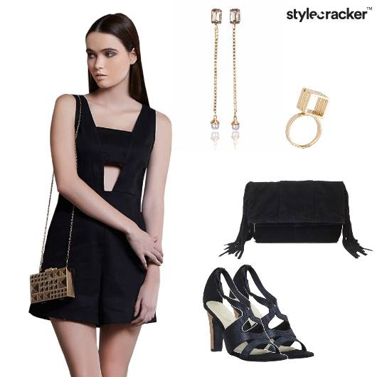 Playsuit Heels Bag Tassel Shoulderdusters  Ring Party - StyleCracker