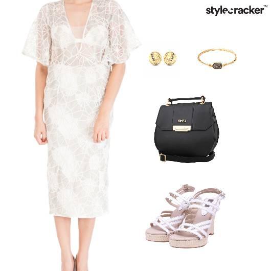 Sheer Dress Wedges SlingBag  - StyleCracker