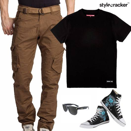 TShirt Casual HiTop Footwear Lunch - StyleCracker