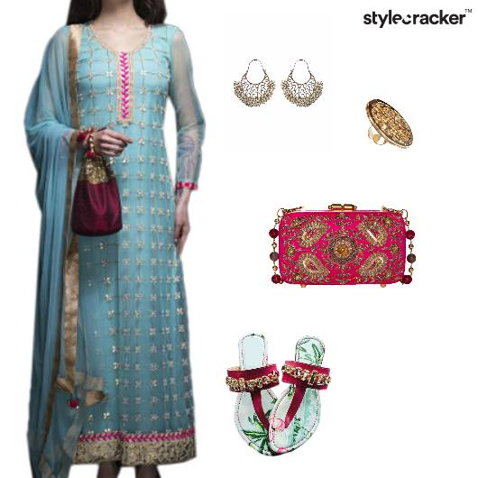 Suit Indian Ethnic Wedding Festive - StyleCracker
