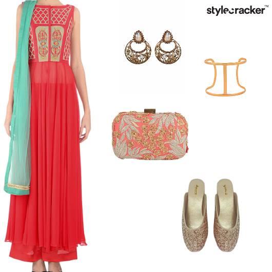 Anarkali Suit Indian Ethnic Wedding Festive - StyleCracker