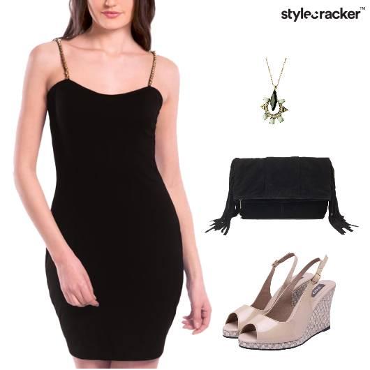 Bodycon Dress Wedge Heel Footwear - StyleCracker