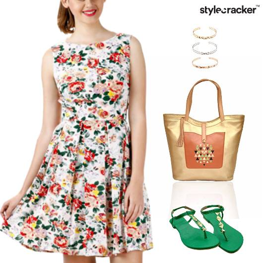 Floral Print Dress Flats Accessories - StyleCracker