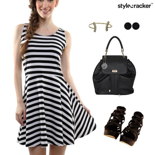 Fit Flare Dress Backpack Accessories  - StyleCracker