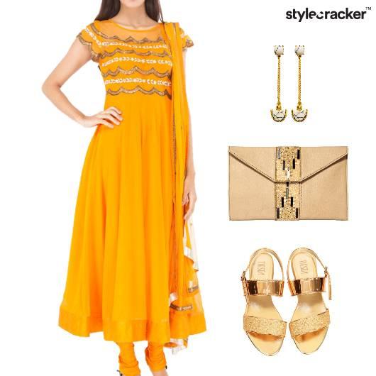 Indian Festival Ethnic Anarkali  - StyleCracker