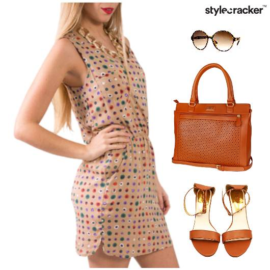 Printed Dress Lunch Flats Casual - StyleCracker
