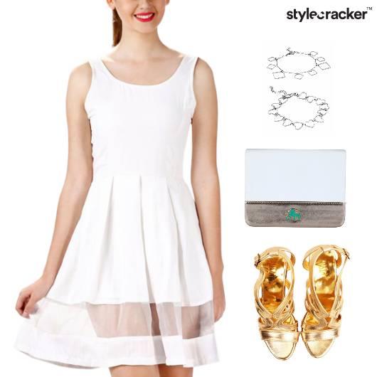 Pleats Dress Lunch Clutch Accessories - StyleCracker