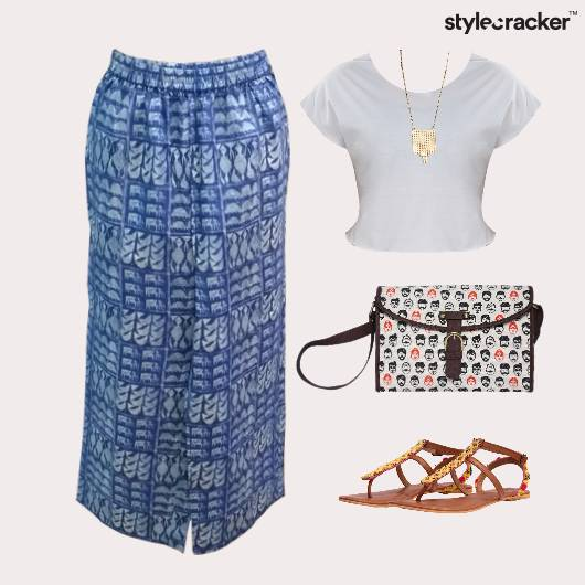 CropTop Print Flats SlingBag Movie - StyleCracker
