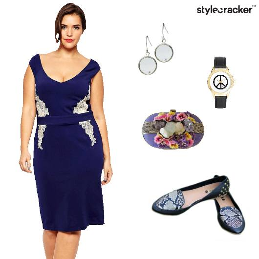 Bodycon Dress Flats Clutch  Party - StyleCracker