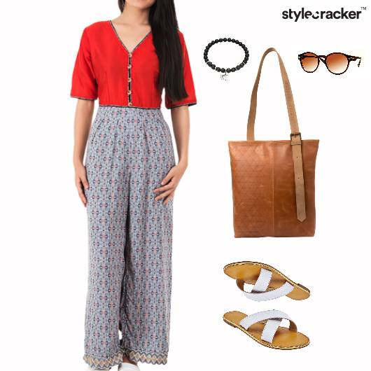 Jumpsuit Flats Tote Bag Weekend - StyleCracker
