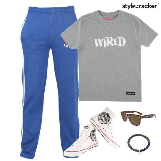 Casual TShirt HiTop Footwear Weekend  - StyleCracker