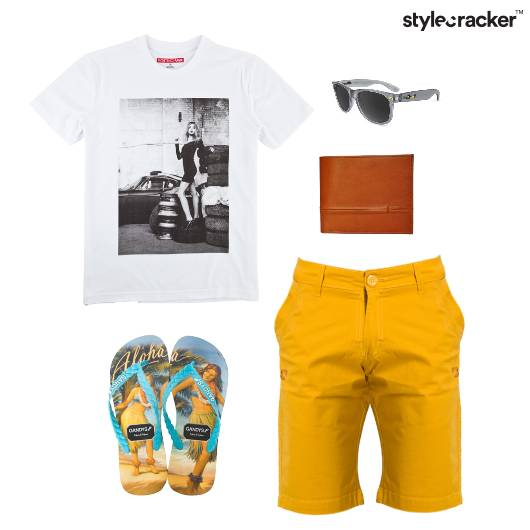 Casual TShirt FlipFlop Vacation - StyleCracker