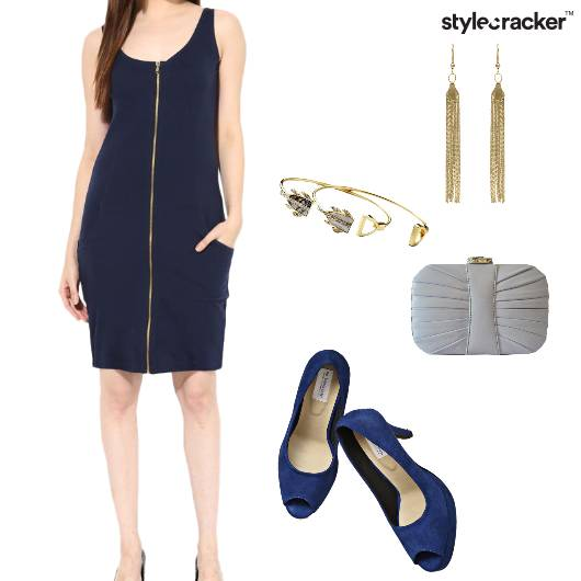 Dress Bodycon Heels Clutch Shoulderdusters Party - StyleCracker