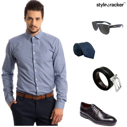 $Short Trousers Oxfords Belt Tie Work - StyleCracker