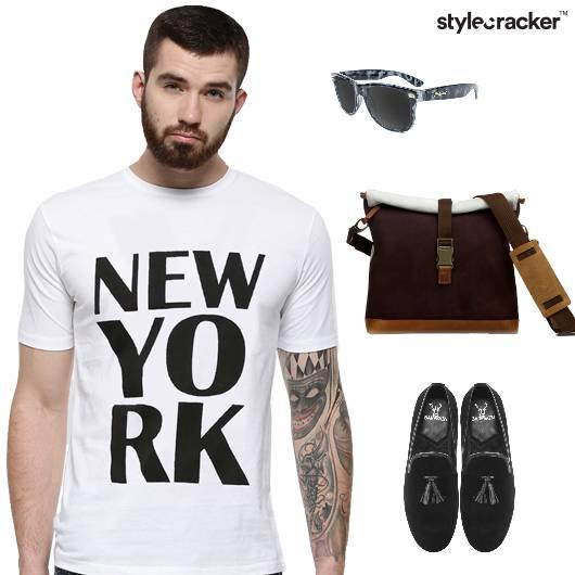 tshirt jeans loafers casual basics - StyleCracker