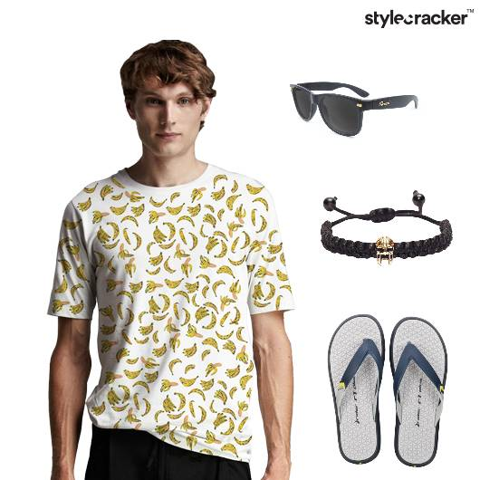 GraphicTee Shorts Flipflops Casual beach - StyleCracker