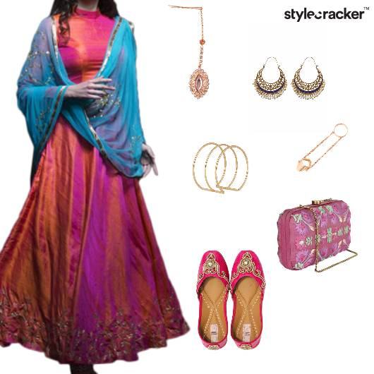 Lehenga Indian Ethnic Wedding Festive - StyleCracker