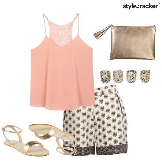 Casual Metallics Shorts Summer  - StyleCracker