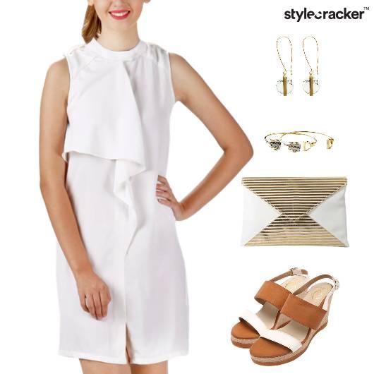 Dress Clutch Wedge Footwear Dinner  - StyleCracker