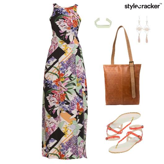 Maxi Dress Flats Tote Bag  - StyleCracker