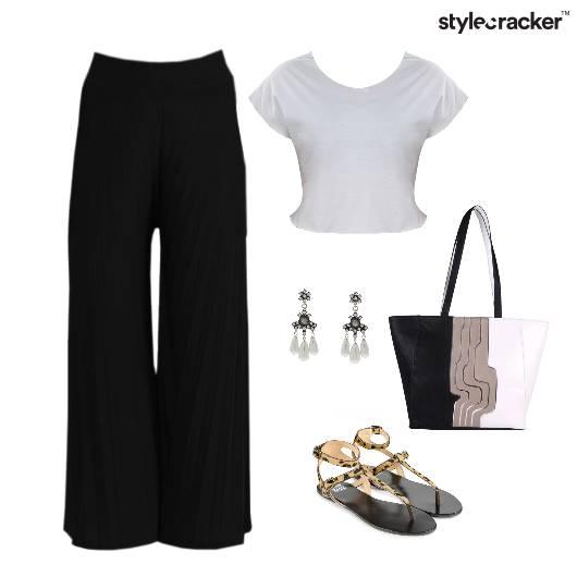 CropTop Lunch Tote Bag Flats  - StyleCracker