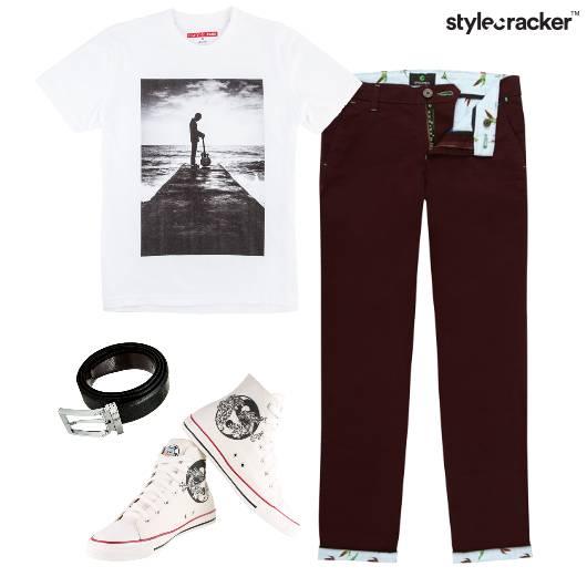 Tshirt  Chinos Casual Comfort HiTop - StyleCracker