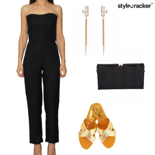 Jumpsuit Flats Clutch Shoulderdusters Party - StyleCracker