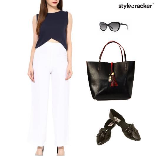 CropTop SlimPants Tote Bag Ballet - StyleCracker