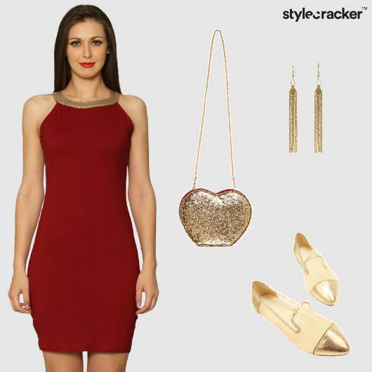 Bodycon Metallic NightOut Party - StyleCracker