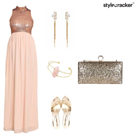 Bling Gown Partylook Shimmer Pastels - StyleCracker