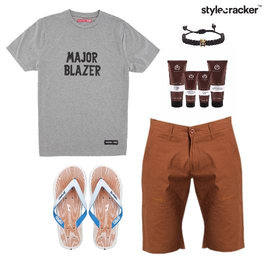 TShirt Casual FlipFlops Lunch Vacation - StyleCracker